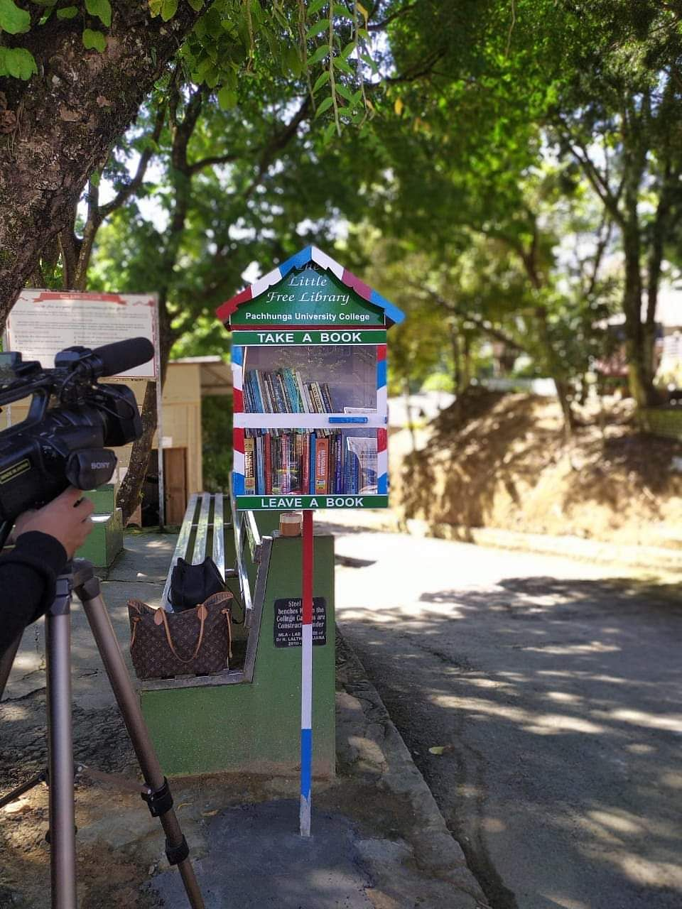 Pachhunga University College also has a roadside 'Little Free Library' on their campus