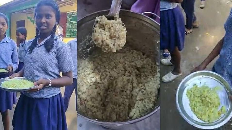 Assam: Youth 'exposes' govt's 'stale' midday meal on Facebook live