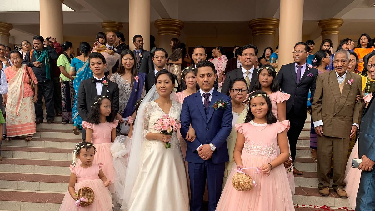 Meghalaya MP Agatha Sangma officially tied the knot with Dr Patrick R Marak in Tura on Thursday