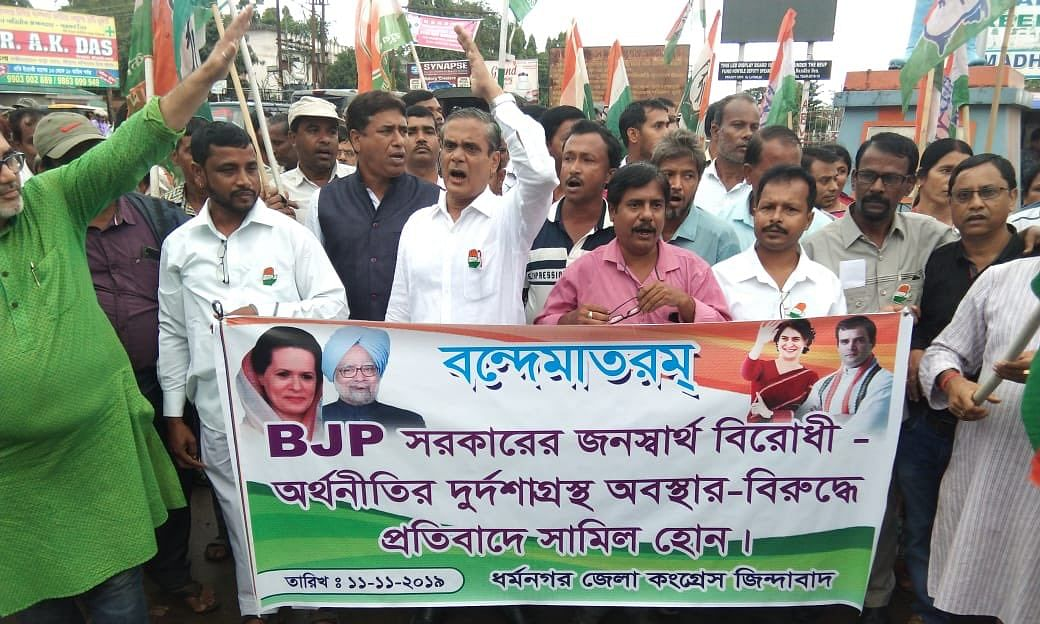 Tripura: Cong's opposition to BJP's economic plans gains momentum
