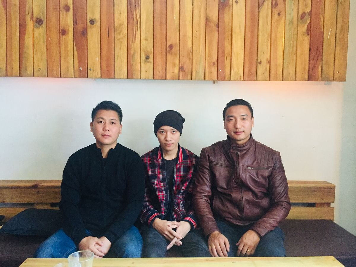 Entrepreneurs Associates CEO Neichute Doulo (centre) along with other members in Kohima