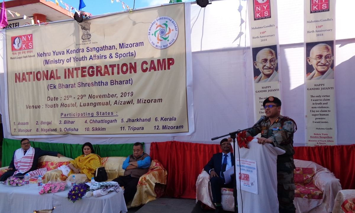 Mizoram: Assam Rifles hosts students from 12 states in Aizawl camp