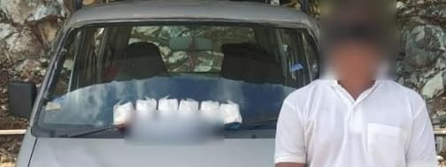 The driver, identified as Laishram Krishanamani from Imphal West district, was arrested by Assam Rifles at Khudengthabi