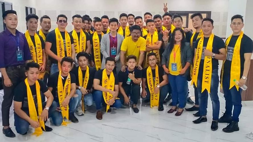 The 'Super 30' along with the organisers from Mr Arunachal mega model hunt 2019