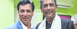 Celebrated actor Adil Hussain (right) with filmmaker Madhur Bhandarkar at GIFF 2019