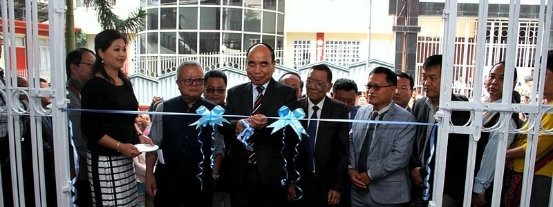 Mizoram CM Zoramthanga inaugurating 14 board offices under the state's flagship programme 'Socio-Economic Development Policy (SEDP)' at the Secretariat Building Annex-II in Aizawl