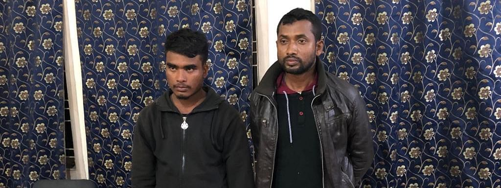 The arrested persons -- Md Tari Monsur and Md Iqbal Hussain -- along with the recoveries