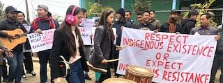 A unique anti-CAA protest being held in Kakching on Friday