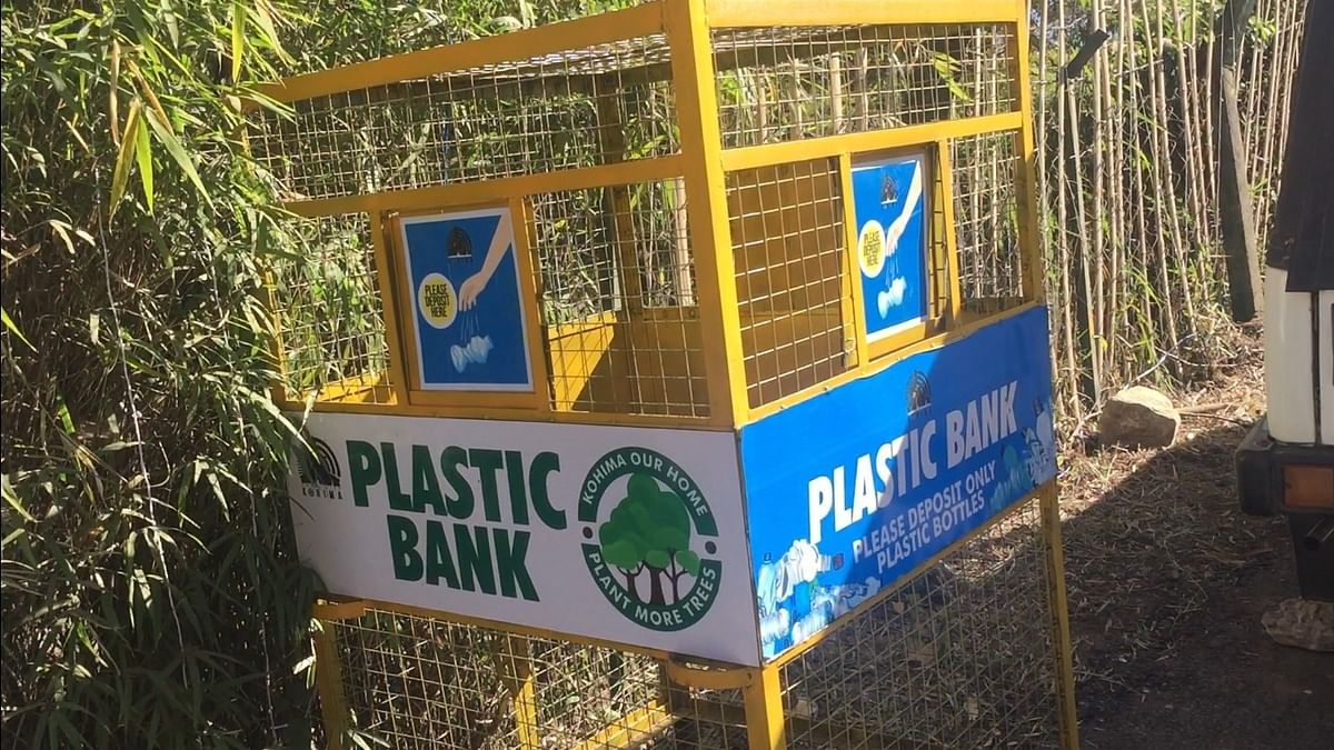 Plastic banks, which are specifically meant for water bottle waste, have been put up at the Heritage Village in Kisama