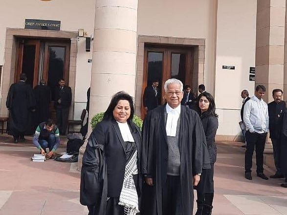 Ex-Assam CM Tarun Gogoi dons lawyer's robe after 3 decades