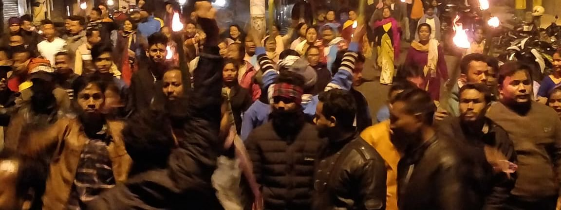 On December 11, the day CAB was placed in Rajya Sabha, a massive protest took place outside the office of DC in Assam's Tinsukia district