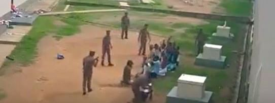 The footage is actually from Sri Lanka