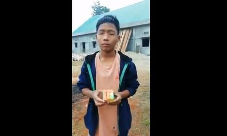 This Arunachal boy can solve Rubik's Cube with his eyes closed