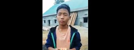 The young boy is from Longkai village in Longding district of Arunachal