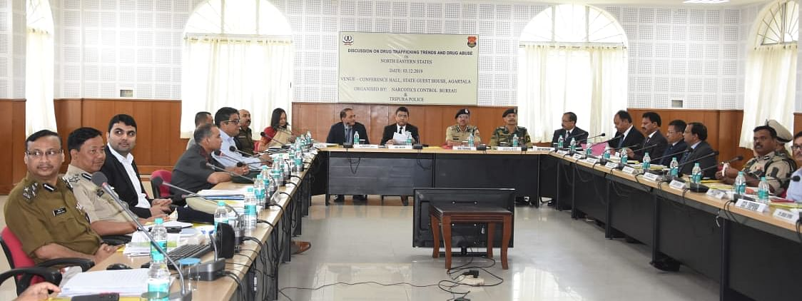 Discussion being held on drug abuse and drug trafficking scenario in the Northeastern states