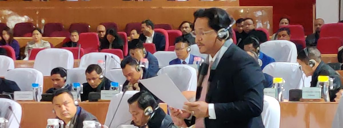 Meghalaya CM Conrad Sangma in Assembly on Thursday.