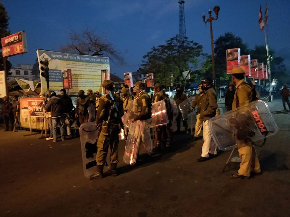 Security forces deployed at Thana Charali