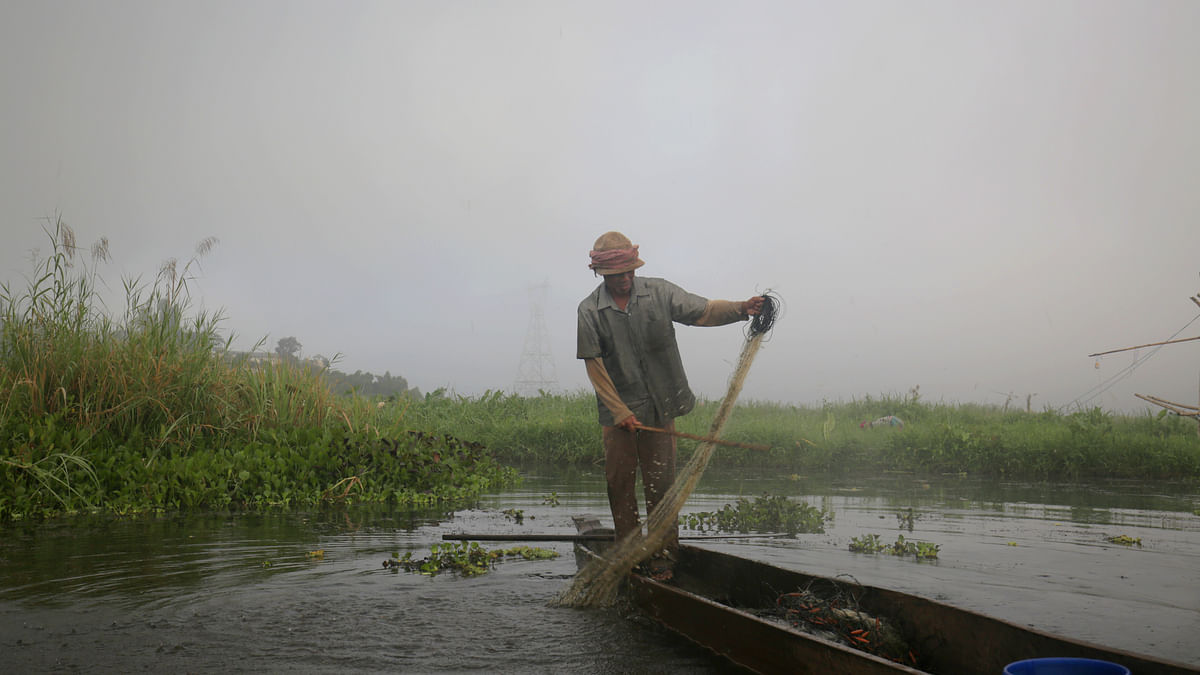 Loktak Lake, the largest freshwater lake of Manipur, is the primary source of livelihood for the fishermen community of the state