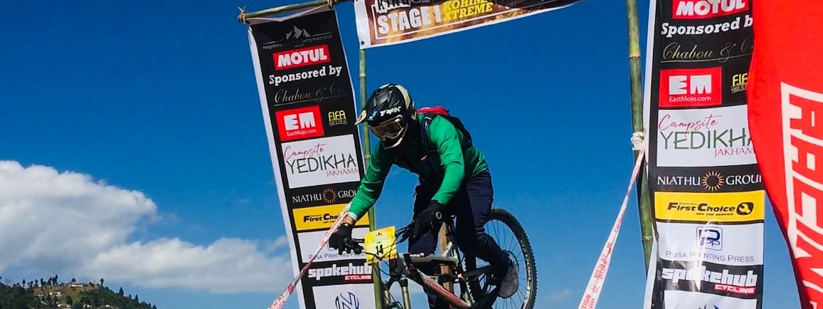 Enthusiasts from Nagaland, Assam, Meghalaya and the United Kingdom participated in the mountain biking event