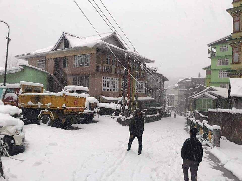 IN PHOTOS: Fresh snowfall in upper reaches of North Sikkim