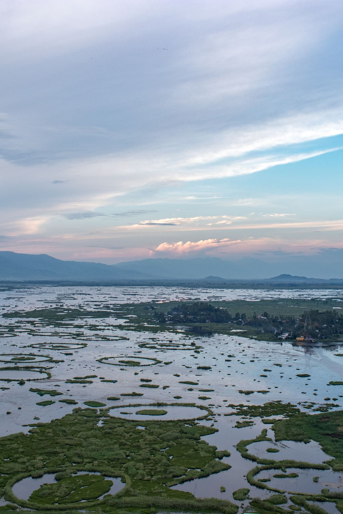 A view of Loktak Lake in Manipur