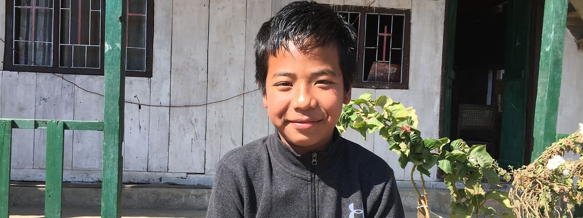 Isaac Paulallungmuan Vaiphei, 12, secured 72% in the recently announced results of Class X board exams in Manipur