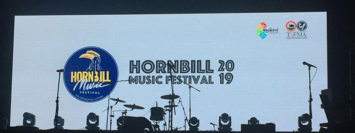A file photo of the Hornbill music festival stage last year