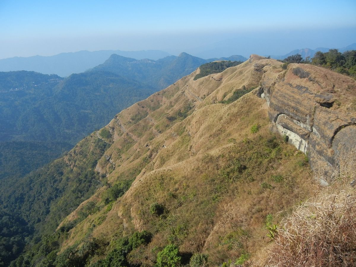 Sitting  at 1,548 metres above Aizawl in Mizoram, Reiek offers a perspective on the encompassing valleys and hills