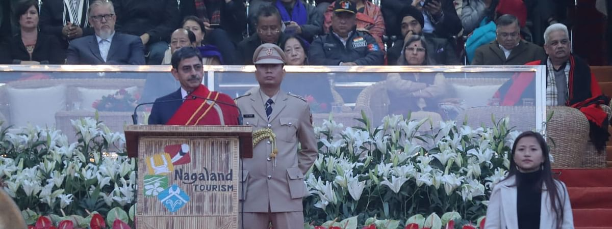 Nagaland governor RN Ravi during the inauguration of Hornbill Festival in Kisama