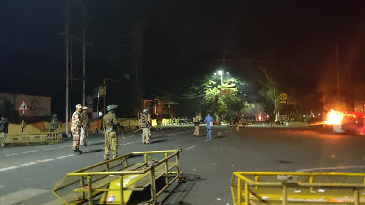 Protesters went on a rampage destroying public property at several places even after curfew was imposed in Guwahati, Assam by 6.15 pm on Wednesday