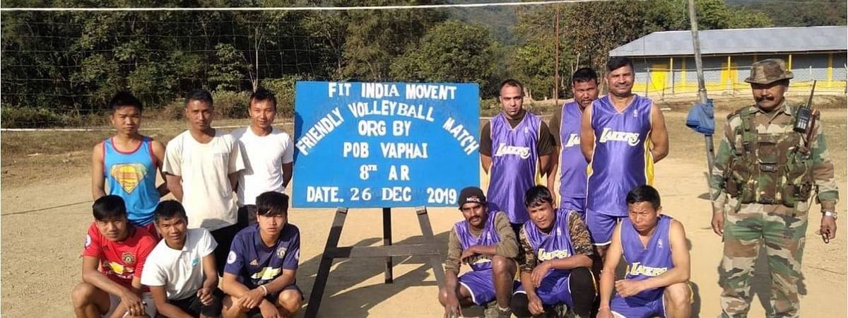 The friendly volleyball match was conducted under the 'Fit India' campaign