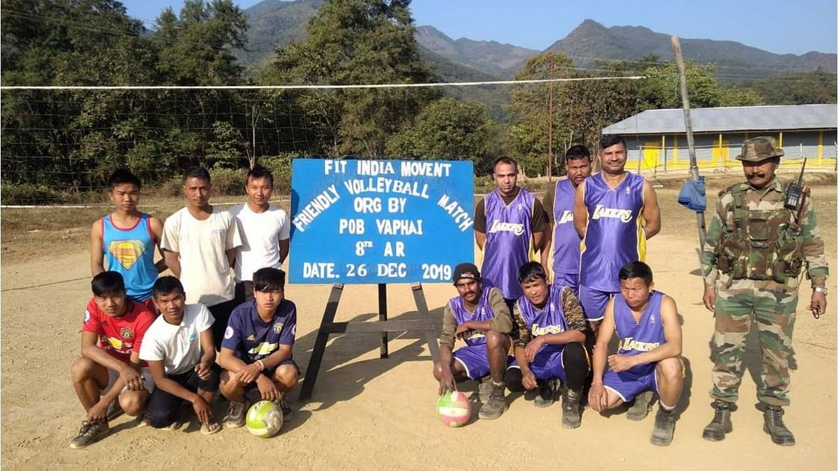 Assam Rifles organises friendly volleyball match for Mizo youth