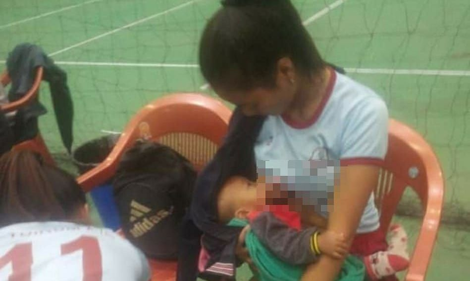 Mizoram player hailed for breastfeeding baby during half-time