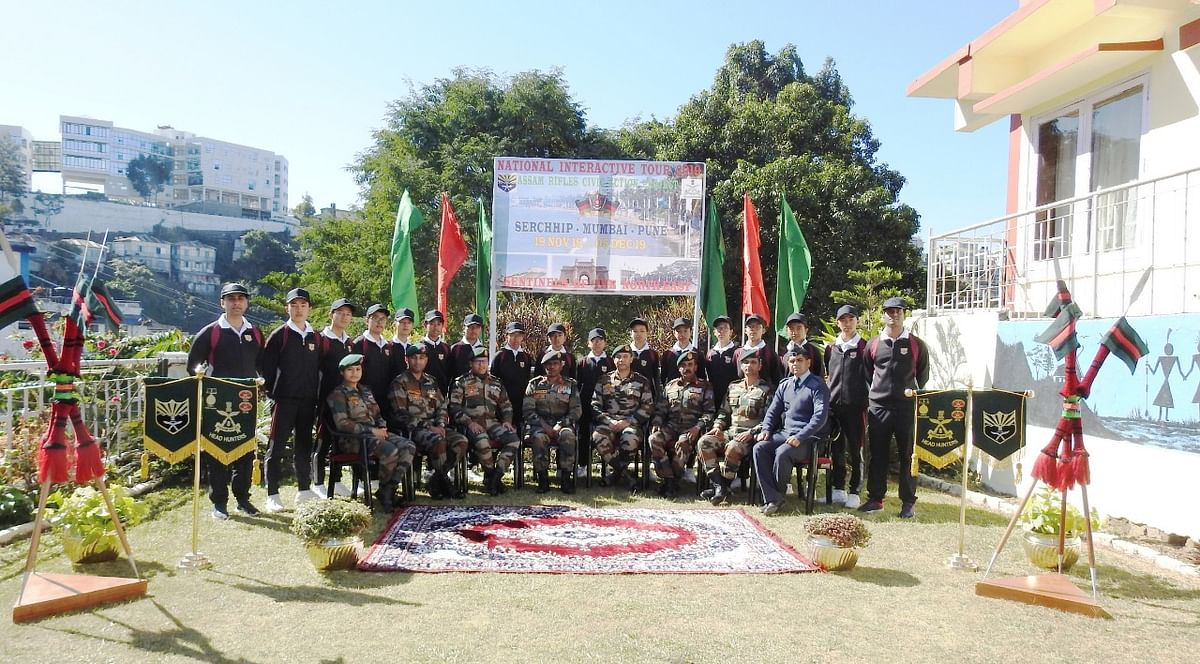Group photographs of the cadets of Sainik School, Chhingchhip