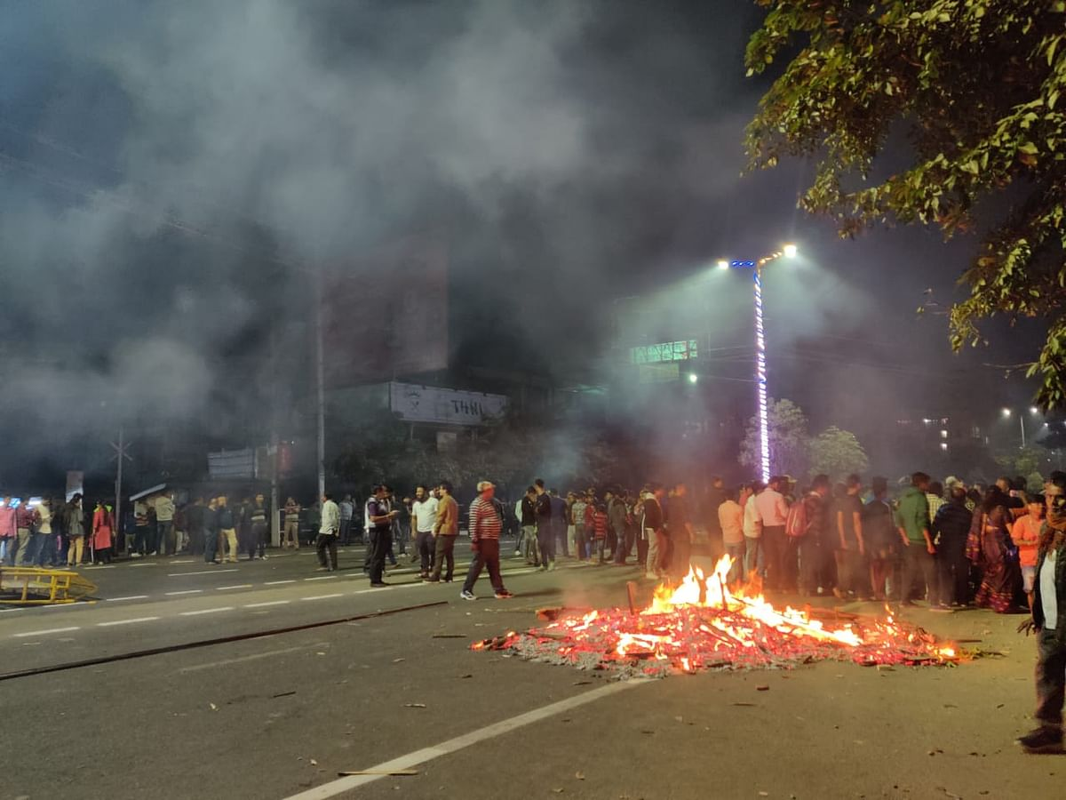 By Wednesday evening, protesters went on a rampage vandalising public property at several major locations of Guwahati in Assam