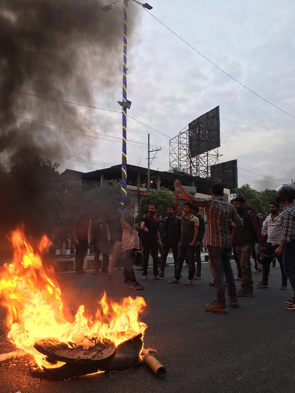 Indefinite curfew had to be imposed in Guwahati after protests took a violent turn by Wednesday evening