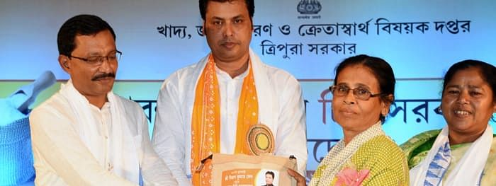 About 37,05,806 people are receiving the benefits of PDS across Tripura