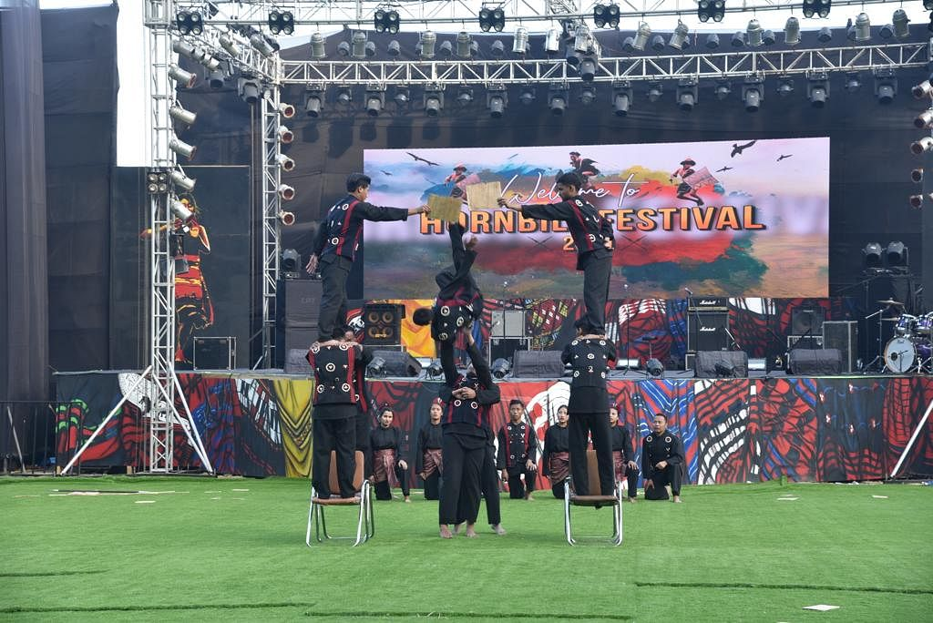 A team of 17 members, including five women members, performed during Hornbill Festival