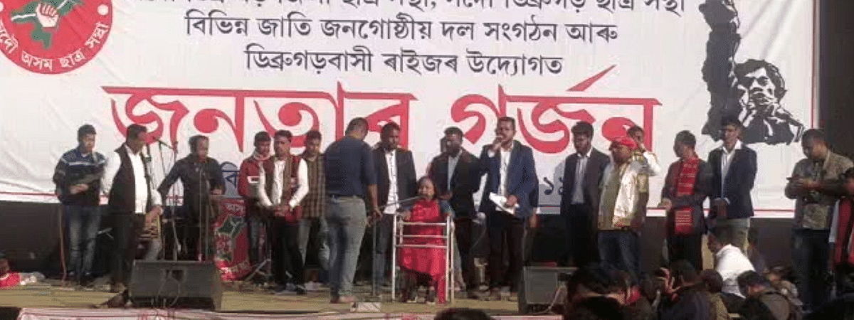 The massive protest comes days after Assam finance minister declared a slew of cabinet decisions to lure indigenous populations amid widespread protests