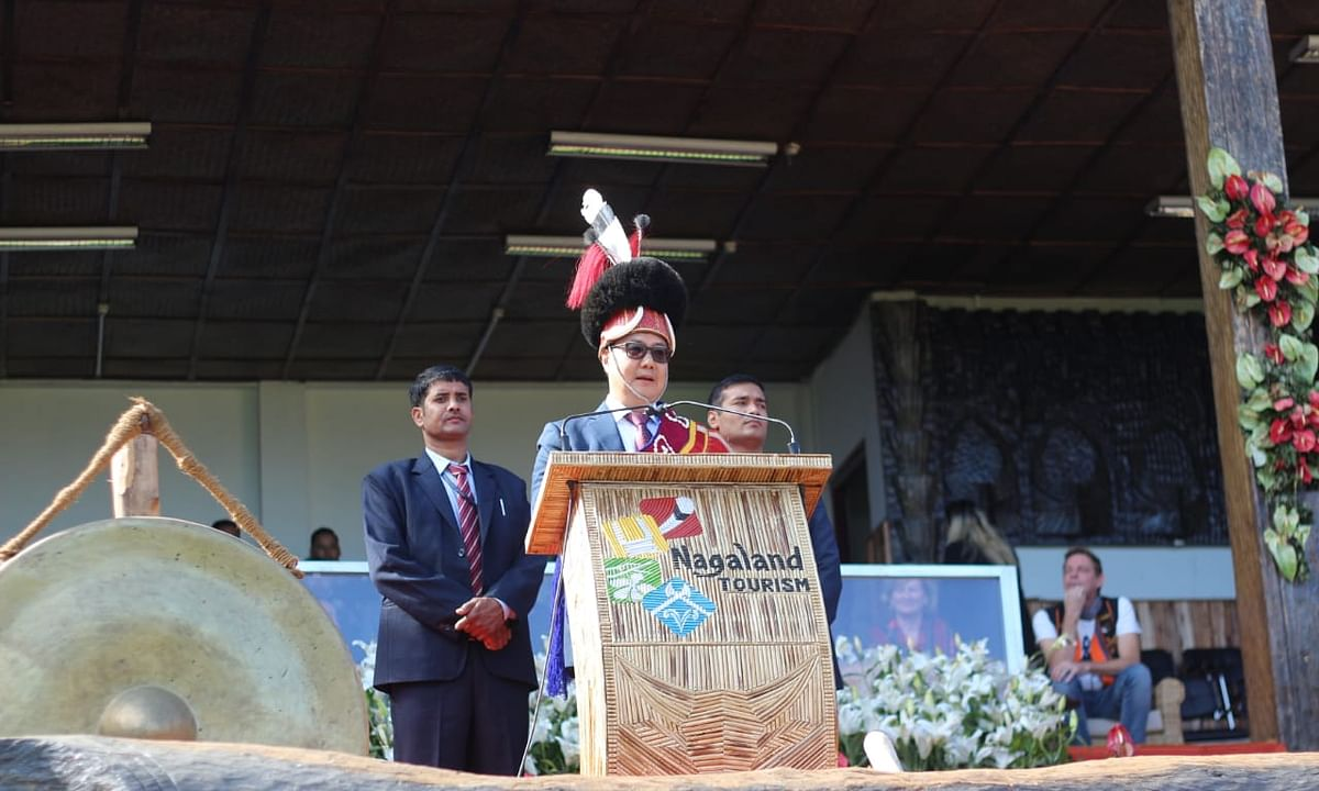 Speaking in Nagamese, Kiren Rijiju wows crowd at Hornbill Festival