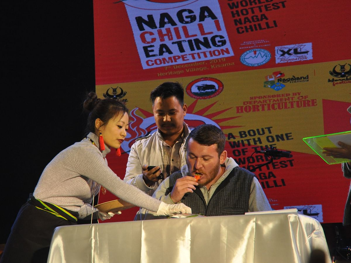 Naga chilli-eating competition spices up Hornbill Festival 2019