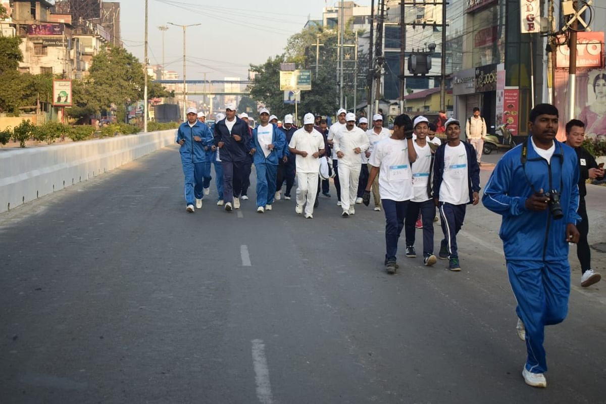 People  from all age groups participated in the marathon in Guwahati on Sunday