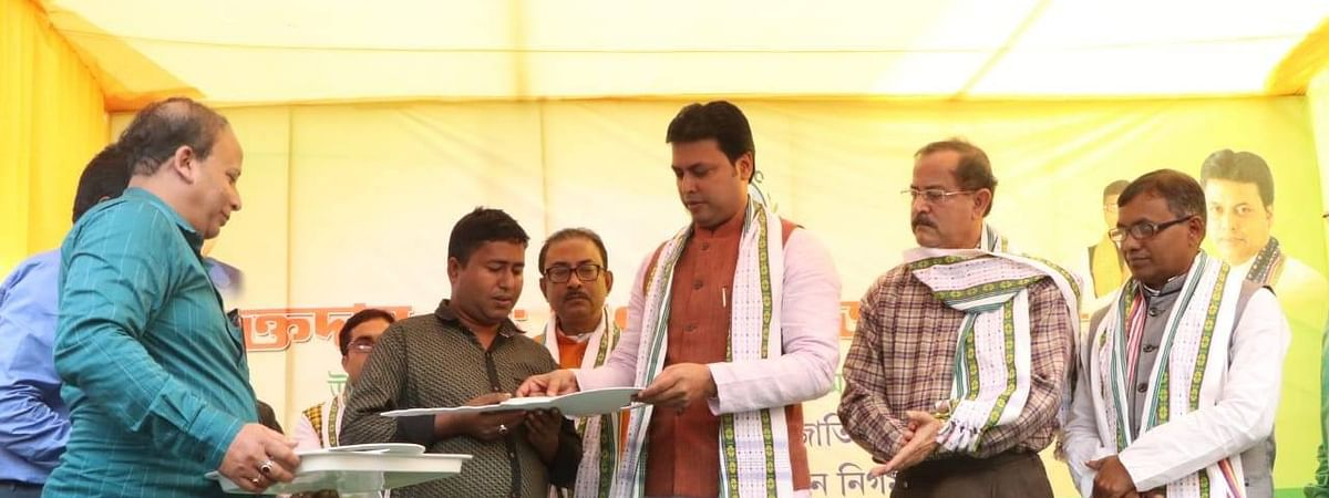 Loans amounting to Rs 3.25 crore were distributed among 122 beneficiaries of Tripura on Monday
