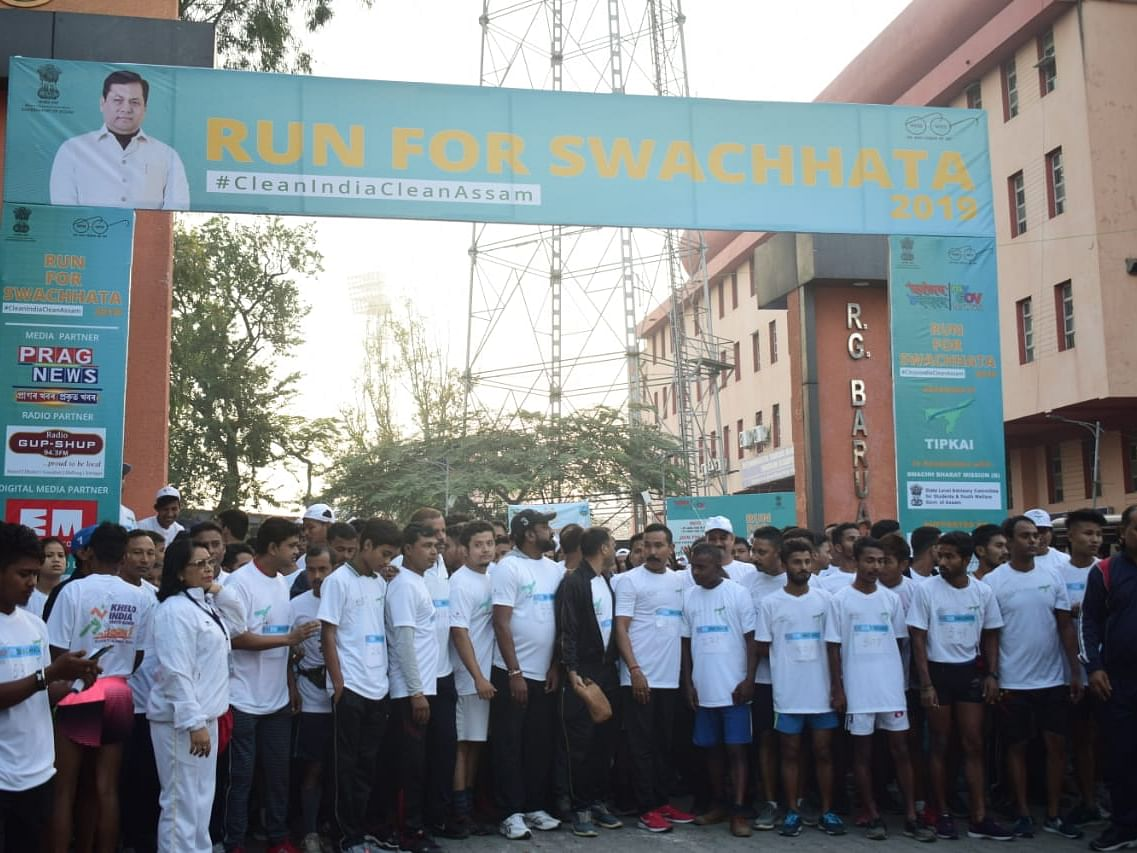 Run for Swachhata: How Guwahati came out  for clean, better India