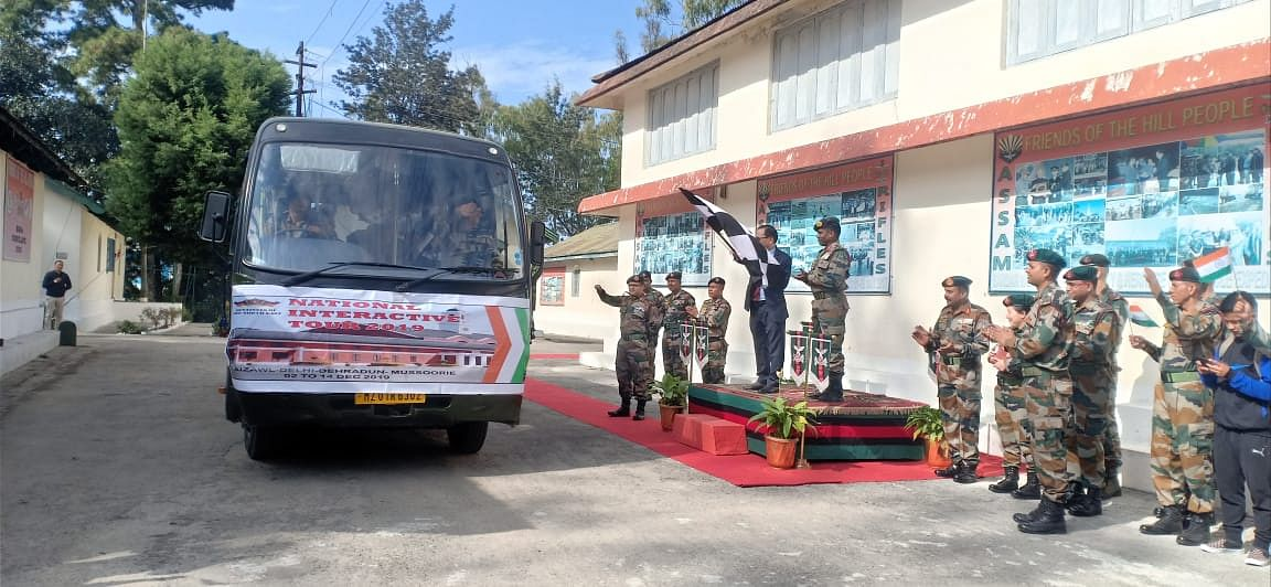 Mizoram home minister Lalchamliana flagging off the national integration tour