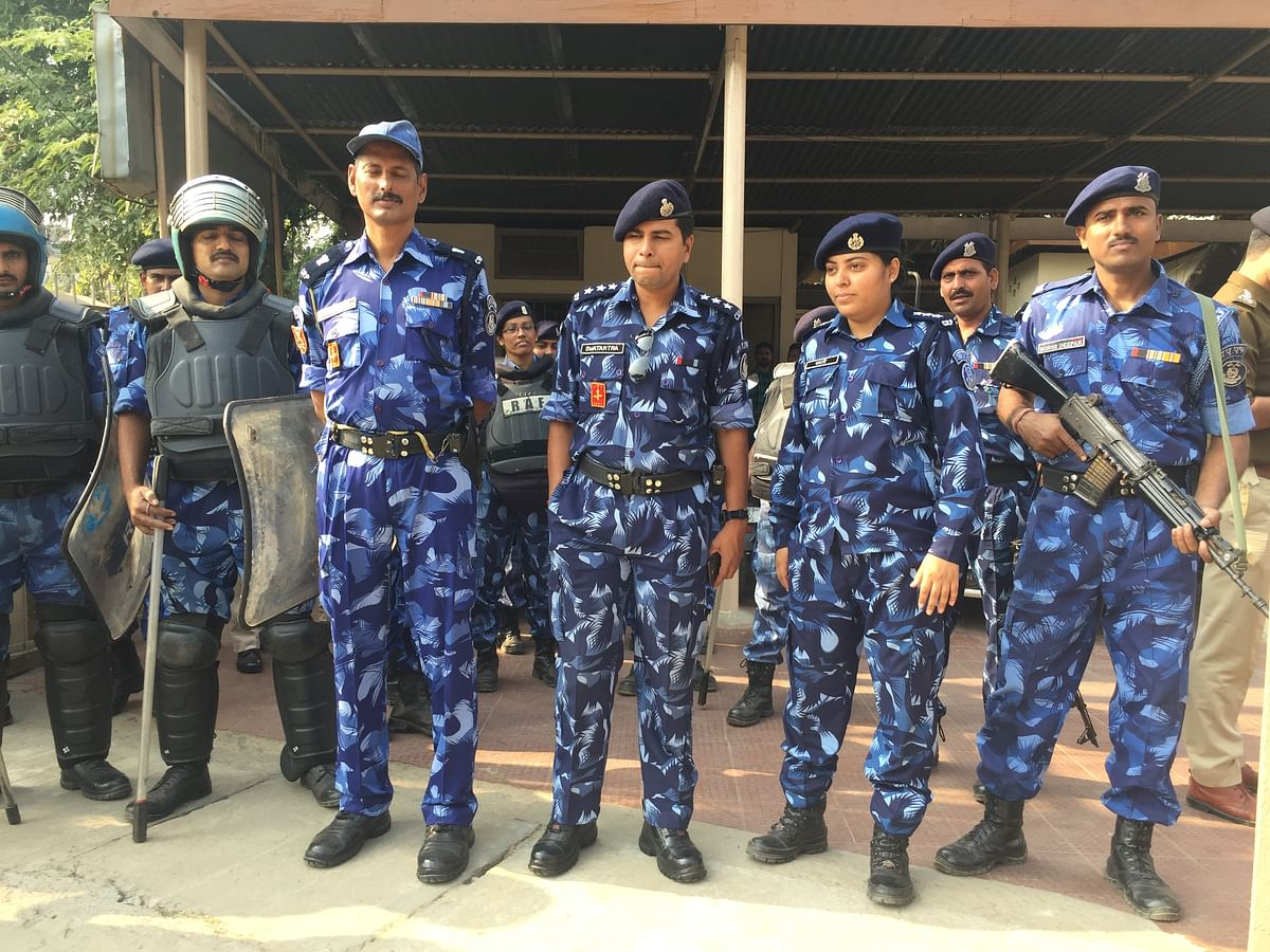 Security was beefed up around the NIA court premises in Guwahati on Tuesday