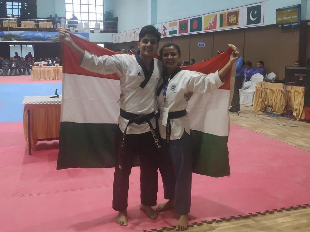 South Asian Games: Assam's Harsha Singh bags gold in taekwondo