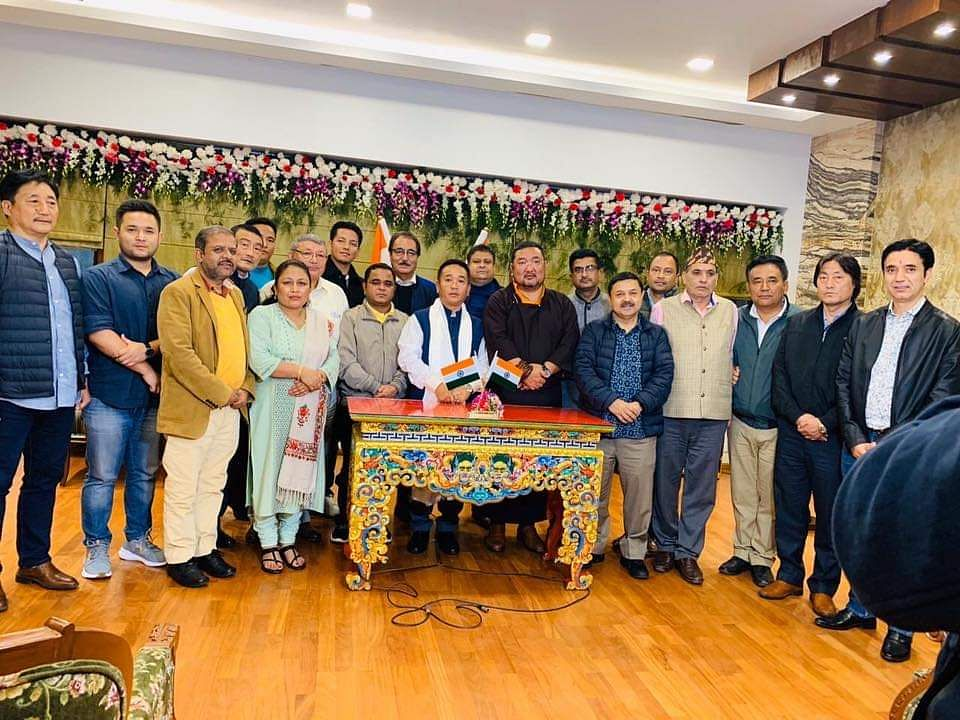 Cabinet ministers, SKM MLAs, chief secretary SC Gupta, additional chief secretary to governor Dr K Jayakumar, resident commissioner of Sikkim House and other officials of the home department were present in the swearing-in ceremony held in New Delhi on Saturday