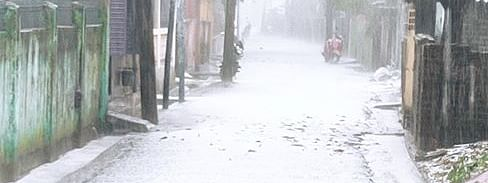 Hailstorm in Siliguri on Friday morning