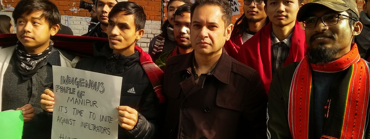 Pradyot Deb Barman among young Northeastern protesters against CAA in New Delhi